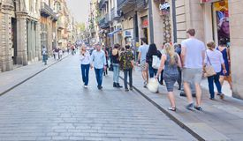 Carrer de Ferran, Gothic quarter, Barcelona Royalty Free Stock Photo