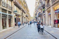 Carrer de Ferran, Gothic quarter, Barcelona Stock Image