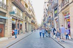 Carrer de Ferran, Gothic quarter, Barcelona Royalty Free Stock Images