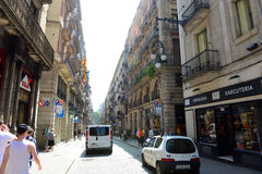 Carrer de Ferrance, Barcelona Old City, Spain Stock Photography
