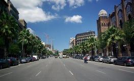 Carrer de la Marina, Barcelona Royaltyfria Foton