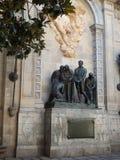 Carrer del Bisbe, Plaça de Garriga i Bachs Photos libres de droits