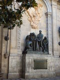 Carrer del Bisbe, Plaça de Garriga i Bachs Royalty Free Stock Photos