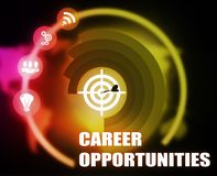 Career Opportunities concept plan graphic. Carrer Opportunities concept plan graphic background Stock Photos