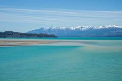Γενική λίμνη Carrera - Χιλή Στοκ Εικόνες