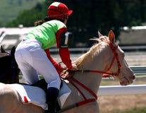 Carrera de caballos Imágenes de archivo libres de regalías