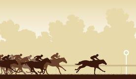 Carrera de caballos stock de ilustración