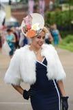 Carrera de caballos, día de señoras en el Ascot Imagen de archivo libre de regalías