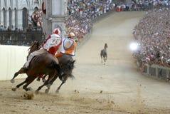 Carrera de caballos del palio de Siena Imagen de archivo