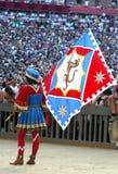 Carrera de caballos del palio de Siena Imagenes de archivo