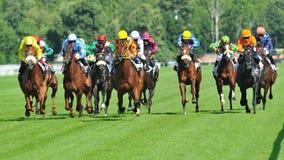 Carrera de caballos en Milán, Italia Fotografía de archivo
