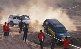 Carrera de coches del desierto Fotografía de archivo