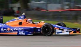 Carrera de coches profesional de Indy Imagen de archivo libre de regalías
