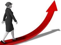 Carrera de la mujer stock de ilustración