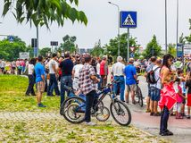Carrera del bycicle de Italia de los di del giro Fotografía de archivo libre de regalías