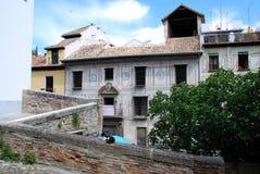 Carrera del Darro, Granada Royaltyfri Bild
