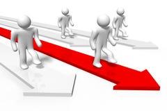 Carrera, líder, conquistando adversidad, flecha, delantera, funcionamiento… libre illustration