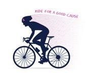 Carrera o competencia de ciclo de la conciencia del cáncer paseo para una buenas causa y caridad libre illustration