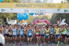39 Carrera urbana Ciudad de Malaga Royalty Free Stock Photography