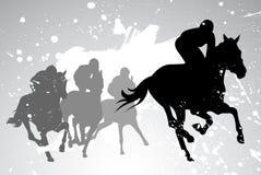 Carreras de caballos del vector Fotos de archivo libres de regalías