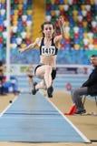 Carreras interiores de la tentativa del récord del atletismo Foto de archivo
