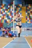 Carreras interiores de la tentativa del récord del atletismo Fotos de archivo