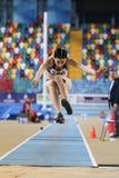 Carreras interiores de la tentativa del récord del atletismo Imágenes de archivo libres de regalías