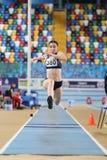 Carreras interiores de la tentativa del récord del atletismo Fotos de archivo libres de regalías