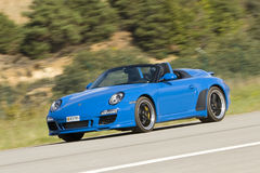 Carrerasnelheidsmaniak van Porsche Stock Foto's