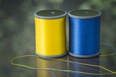 Carretéis coloridos da linha Foto de Stock
