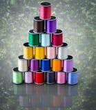 Carretéis coloridos da linha Fotos de Stock Royalty Free