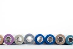 Carretéis das linhas de costura Fotografia de Stock Royalty Free