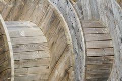 Carretéis de cabo - construção de madeira Fotografia de Stock Royalty Free