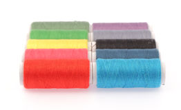 Carretéis de linhas das cores Foto de Stock