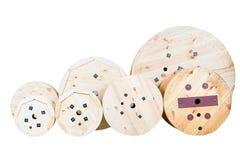 Carretéis de madeira Imagens de Stock Royalty Free