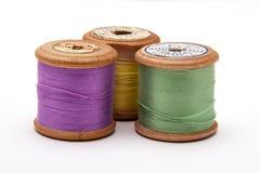 Carretéis de madeira do algodão Fotografia de Stock Royalty Free