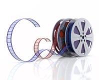carretéis de película 3d Foto de Stock