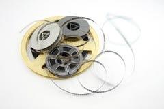 Carretéis de película isolados no branco Imagem de Stock Royalty Free