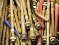 Carretéis de tecelagem antigos Imagem de Stock Royalty Free