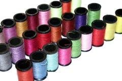 Carretéis do algodão Fotografia de Stock