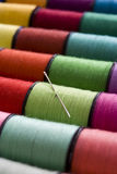 Carretéis do algodão Imagem de Stock Royalty Free