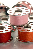 Carretéis metálicos da linha Fotografia de Stock