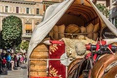 Carreta caballos fiesta miejscowy Zdjęcia Royalty Free