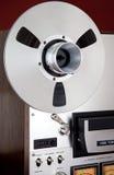 Carrete abierto del registrador del magnetófono del carrete del estéreo análogo Fotos de archivo