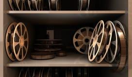 Carrete con la cinta Imágenes de archivo libres de regalías