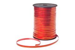 Carrete con la cinta roja decorativa Imagen de archivo libre de regalías