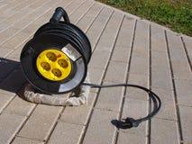 Carrete de cable Foto de archivo libre de regalías