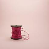 Carrete de cuero rosado de la cuerda (#1) Fotografía de archivo libre de regalías