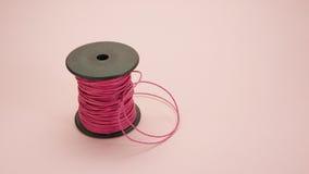 Carrete de cuero rosado de la cuerda (#2) Foto de archivo libre de regalías