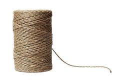 Carrete de la cuerda de rosca aislado en blanco Foto de archivo libre de regalías